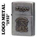 zippo(ジッポーライター)LOGO METAL 1932 メタルプレート ユーズド加工画像