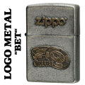 zippo(ジッポーライター)LOGO METAL BET メタルプレート ユーズド加工画像