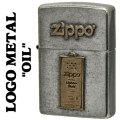 zippo(ジッポーライター)LOGO METAL OIL メタルプレート ユーズド加工画像