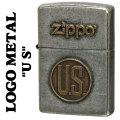 zippo(ジッポーライター)LOGO METAL US メタルプレート ユーズド加工画像