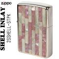 zippo(ジッポーライター)Shell InIay 銀メッキ エッチング 貝貼り ピンク/パール画像