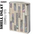 ZIPPO/Shell InIay  銀メッキ エッチング 貝貼り シルバー/パール 2SSHELL-STS画像