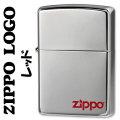 zippo ジッポー ロゴ入り ニッケルミラー仕上げ レッド 2ZCL-RD画像
