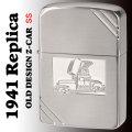 zippo 1941 REPLICA OLD DESIGN 銀メッキサテーナ仕上げエッチング Zippoカー画像