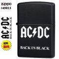 zippo(ジッポーライター)AC/DCブラックマット2019アーティストコレクション#49015画像