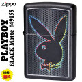 ZIPPO/プレイボーイ  Playboy Bunny Black Matte 49155画像