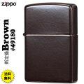 ZIPPO/新ベーシック定番モデル Brown #49180画像