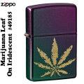 ZIPPO(ジッポーライター) カウンターカルチャー マリファナリーフ Iridescent Violet 49185画像