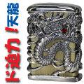 zippo ジッポーライター フルメタルジャケット天龍(三)銀イブシ ZIPPO