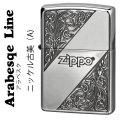 zippo(ジッポーライター)アラベスクライン A ニッケル古美画像