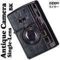 zippo(ジッポーライター) ウッディー アンティーク カメラ 一眼カメラデザイン ウッド ブラックニッケル画像