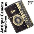 zippo(ジッポーライター) ウッディー アンティーク カメラ 一眼カメラデザイン ウッド 真鍮イブシ画像