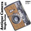 zippo(ジッポーライター) ウッディー アンティーク カメラ 一眼カメラデザイン ウッド シルバーイブシ画像