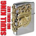 zippo(ジッポーライター) スカルキング2 KG シルバー 画像