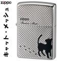 zippo(ジッポーライター)メッシュキャット 銀メッキ鏡面仕上げ 2CAT-MESH画像