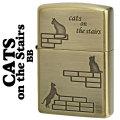 zippo(ジッポーライター)猫 階段 CATS on the Stairs ブラス古美 CATS-BB画像