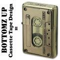 ZIPPO(ジッポーライター)ボトムズアップ カセットテープデザイン ブラス(真鍮) 画像