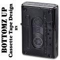 ZIPPO(ジッポーライター)ボトムズアップ カセットテープデザイン BN(ブラックニッケル) 画像