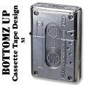 ZIPPO(ジッポーライター)ボトムズアップ カセットテープデザイン NI(ニッケル) 画像