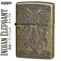 zippo (ジッポーライター)インディアン  エレファント(A)  真鍮イブシバレル画像