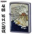 zippo(ジッポーライター)人気のシェル 天然貝貼りエポ 富士画像