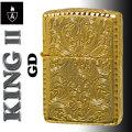 zippo アーマー KING II (キング2) 5面加工 アラベスク GD ゴールド 金チャンバー仕様画像