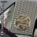 zippo(ジッポーライター)アーマー ドラゴン オクタゴンメタル ホワイトニッケル画像