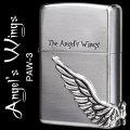 【ZIPPO】天使の翼サイドメタルジッポーシルバー