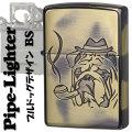 zippo パイプ ライター ブルドッグ ブラス 真鍮 いぶし画像