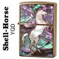 zippo(ジッポーライター)シェル・ホース貝貼り 跳馬 YGD画像