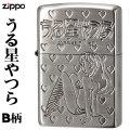 zippo(ジッポーライター)うる星やつら 両面加工 銀サテン古美B柄画像