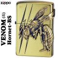 zippo(ジッポーライター)ヴェノムvenom(毒) ホーネットHornet(スズメ蜂)メタル貼り BS画像