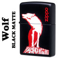 zippo(ジッポーライター)WOLF Black Matte ウルフ ブラックマット Z-CI400329画像