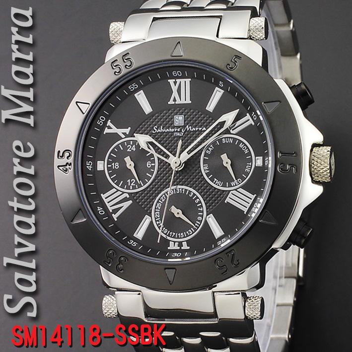 サルバトーレマーラ メンズ 腕時計SM14118-SSBK画像