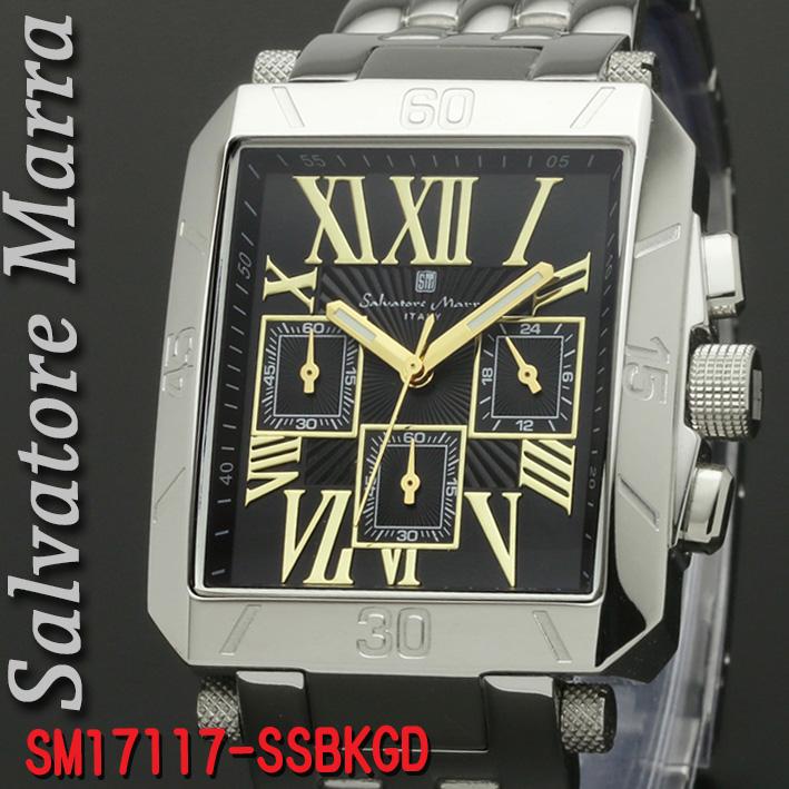 腕時計メンズ サルバトーレマーラ 角型SM17117-SSBKGD画像