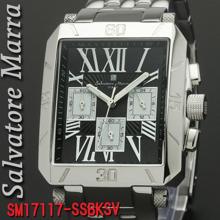 腕時計メンズ サルバトーレマーラ 角型SM17117-SSBKSV画像
