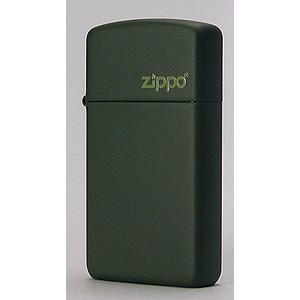 【ZIPPO】グリーンマットジッポ・スリム