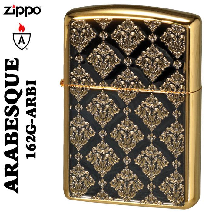 zippo(ジッポーライター)アーマー アラベスクシリーズ 金メッキ・エッチング加工162G-ARBI画像