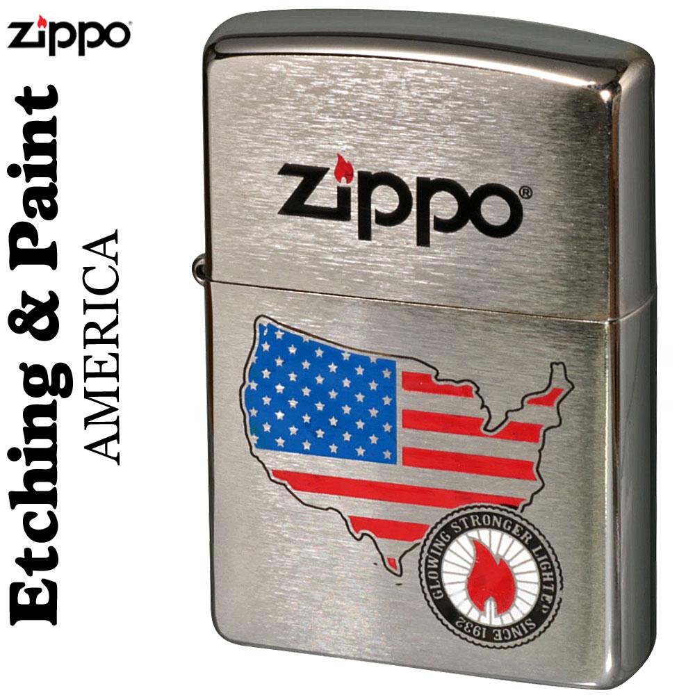 ippo(ジッポーライター)Etching&Paint エッチング&ペイントAMERICA画像