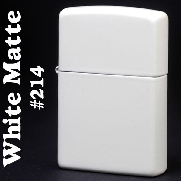 zippo(ジッポーライター)ホワイトカラーマットジッポー #214 画像