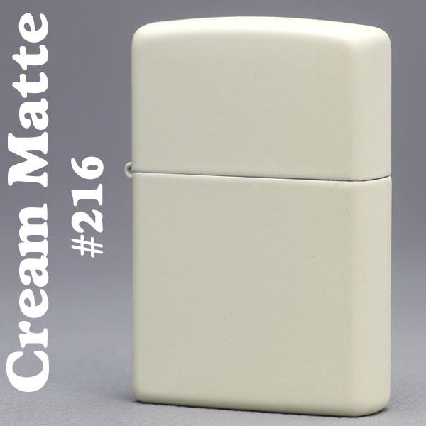 zippo(ジッポーライター)Cream Matte クリームカラーマットジッポー #216画像
