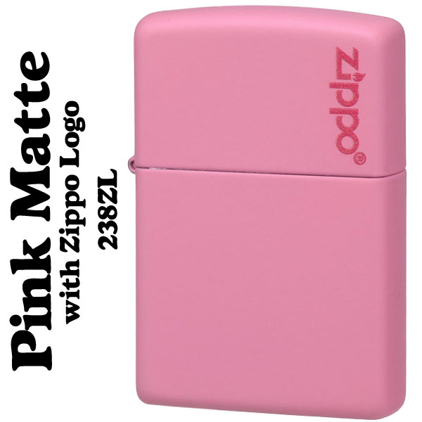 【ZIPPO】ピンクカラーマットジッポー ZIPPOロゴ入り画像