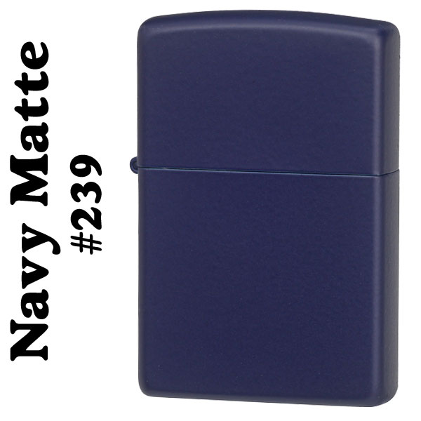 zippo(ジッポーライター)Navy Matte ネイビーカラーマットジッポー #239画像