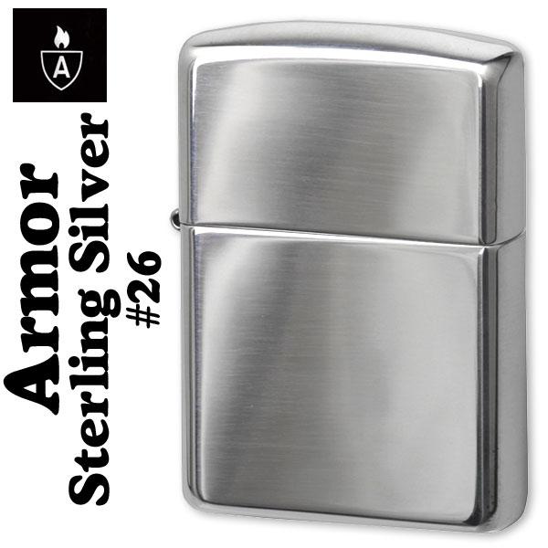 【ZIPPO】アーマー スターリングシルバーNo.26 純銀アーマージッポー画像