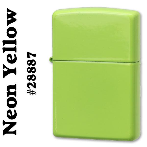 zippo(ジッポーライター)無地Neon Yellow(ネオンイエローカラー) #28887画像