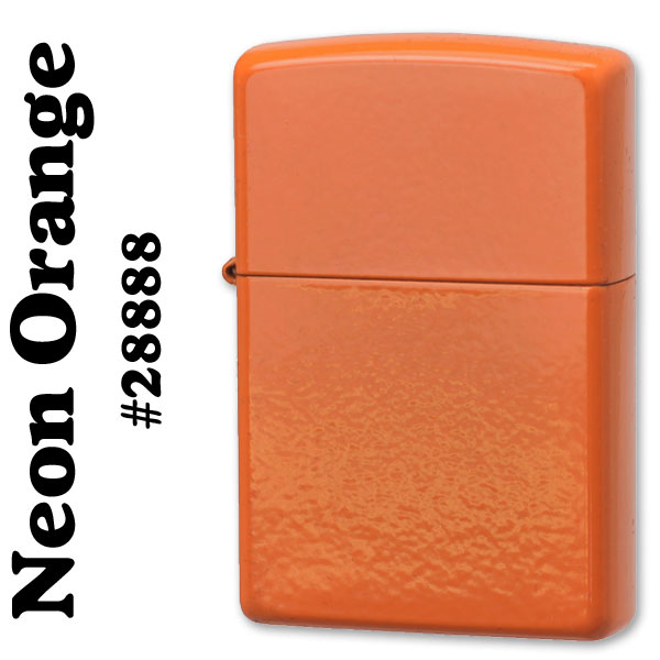 zippo(ジッポーライター)無地 Neon Orange(ネオンオレンジカラー) #28888画像