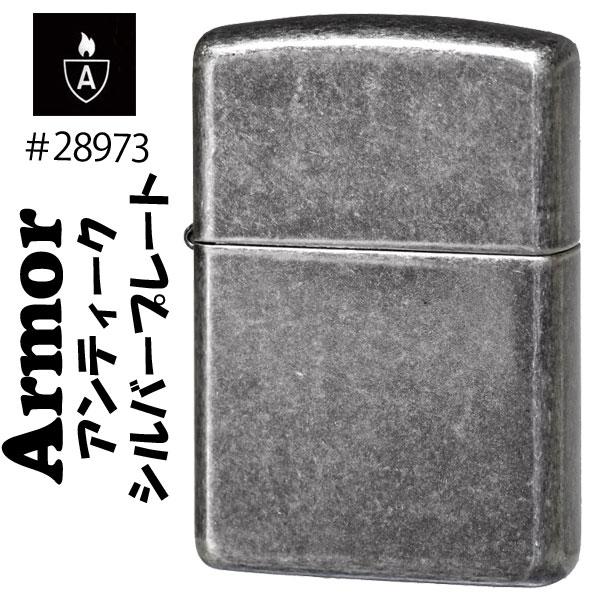 zippo(ジッポーライター)Armor(アーマー) Antique Silver Plate #28973画像