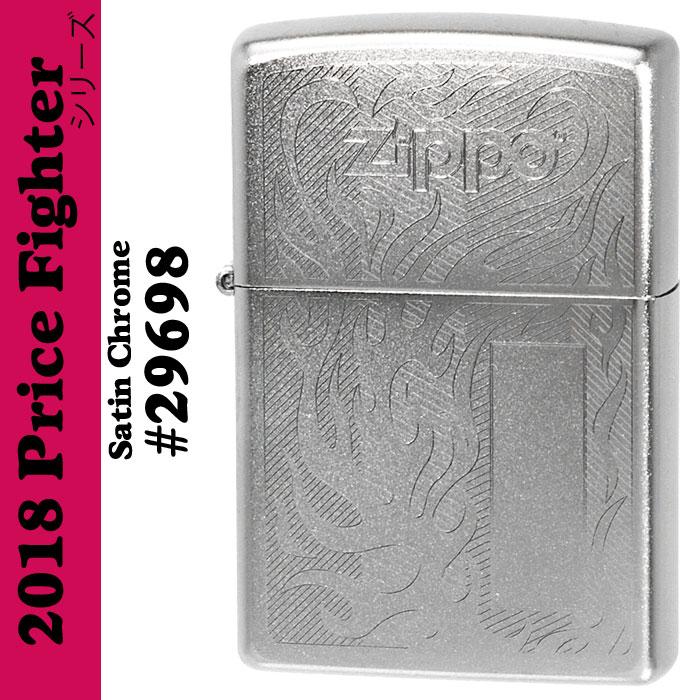 Zippo Price Fighter2018 ZIPPO LOGO DESIGN サテンクローム(29698)画像