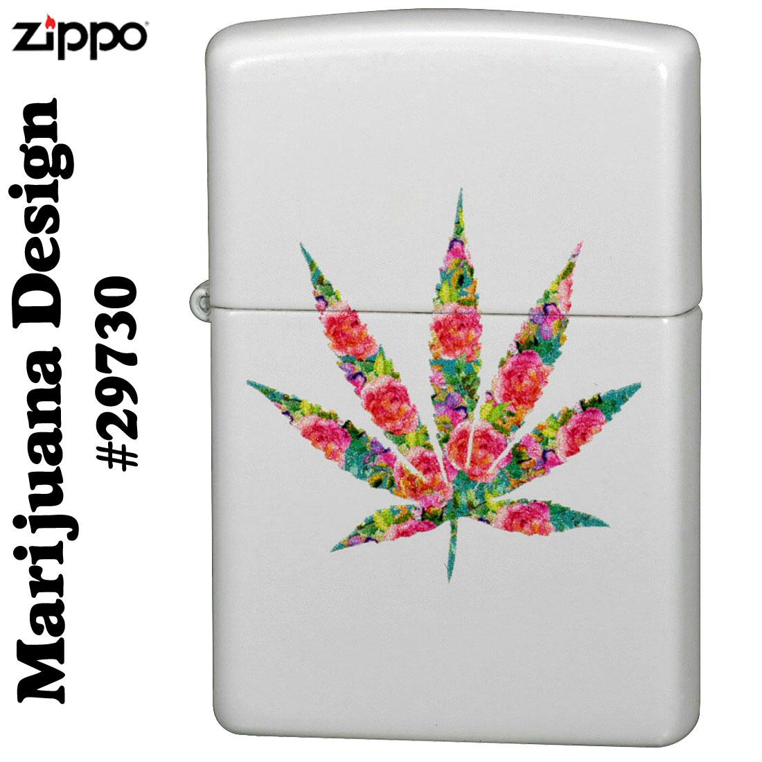 ZIPPO(ジッポーライター) マリファナデザイン ホワイトマット#29730画像3