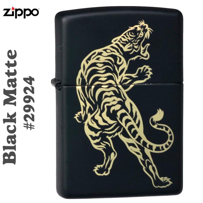 zippo(ジッポーライター) Zippo Price Fighter2019 タイガー(虎) #29924 Black Matte画像